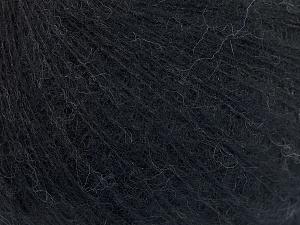 Fiber Content 50% Polyamide, 40% Baby Alpaca, 10% Merino Wool, Brand Ice Yarns, Black, fnt2-64968