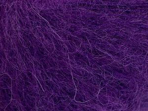 Fiber Content 40% Kid Mohair, 40% Alpaca Superfine, 3% Elastan, 17% Polyamide, Purple, Brand Ice Yarns, fnt2-64988