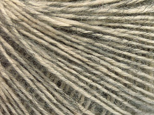 Fiber Content 56% Cotton, 22% Extrafine Merino Wool, 22% Baby Alpaca, Brand Ice Yarns, Grey, fnt2-65017