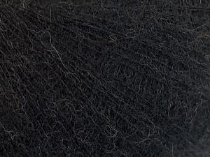 Fiber Content 50% Polyamide, 40% Baby Alpaca, 10% Merino Wool, Brand Ice Yarns, Black, Yarn Thickness 0 Lace  Fingering Crochet Thread, fnt2-65035