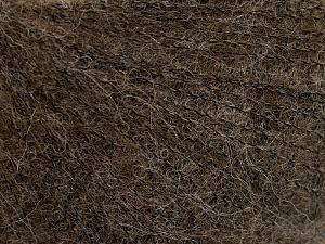 Fiber Content 50% Polyamide, 40% Baby Alpaca, 10% Merino Wool, Brand Ice Yarns, Dark Brown, Yarn Thickness 0 Lace  Fingering Crochet Thread, fnt2-65037