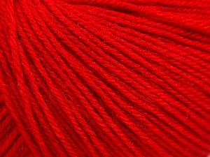 Fiber Content 40% Merino Wool, 40% Acrylic, 20% Polyamide, Red, Brand Ice Yarns, Yarn Thickness 2 Fine  Sport, Baby, fnt2-65046