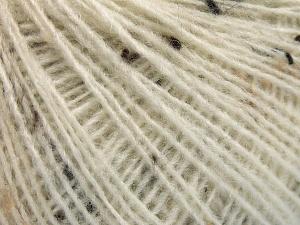 Fiber Content 50% Wool, 40% Acrylic, 10% Viscose, Brand Ice Yarns, Ecru, fnt2-65085