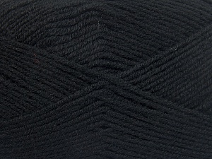 Fiber Content 50% Wool, 50% Acrylic, Brand Ice Yarns, Black, fnt2-65184