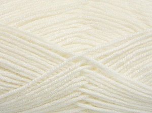 Fiber Content 50% Acrylic, 50% Wool, White, Brand Ice Yarns, fnt2-65185