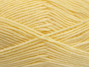 Fiber Content 50% Wool, 50% Acrylic, Light Yellow, Brand Ice Yarns, fnt2-65189