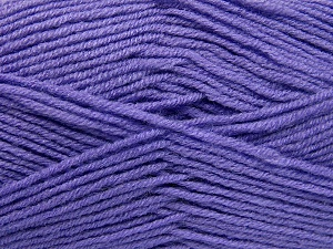 Fiber Content 50% Wool, 50% Acrylic, Lilac, Brand Ice Yarns, fnt2-65192
