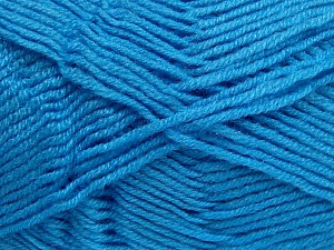 Fiber Content 50% Wool, 50% Acrylic, Turquoise, Brand Ice Yarns, fnt2-65194