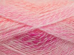 Fiber Content 65% Premium Acrylic, 35% Mohair, White, Pink, Neon Orange, Brand Ice Yarns, Fuchsia, fnt2-65198