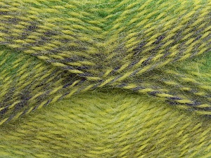 Fiber Content 65% Premium Acrylic, 35% Mohair, Purple, Brand Ice Yarns, Green Shades, fnt2-65201