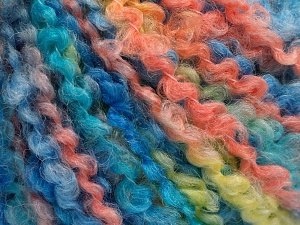 İçerik 55% Akrilik, 35% Yün, 10% Polyamid, Salmon, Light Yellow, Brand Ice Yarns, Blue Shades, fnt2-65230