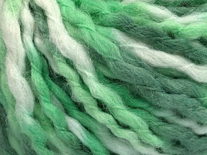 Fiber Content 60% Acrylic, 30% Wool, 10% Mohair, Brand Ice Yarns, Green Shades, fnt2-65257