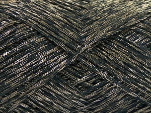 Fiber Content 70% Acrylic, 30% Polyamide, Brand Ice Yarns, Gold, Black, fnt2-65266