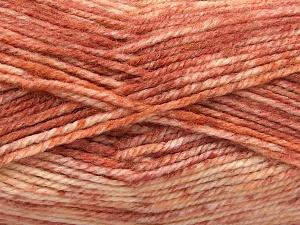 Fiber Content 50% Premium Acrylic, 50% Wool, Salmon Shades, Brand Ice Yarns, fnt2-65293