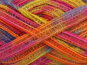 Fiber Content 50% Wool, 37% Polyamide, 13% Metallic Lurex, Rainbow, Brand Ice Yarns, fnt2-65307