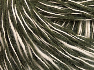 Fiber Content 55% Cotton, 45% Acrylic, Brand Ice Yarns, Dark Khaki, Cream, fnt2-65321