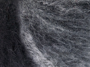 Mohair  İçerik 30% Tiftik, 30% Yün, 20% Akrilik, 20% Polyamid, White, Brand Ice Yarns, Grey Shades, Black, fnt2-65343