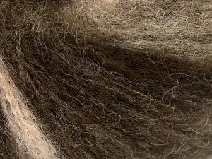 Mohair  İçerik 30% Tiftik, 30% Yün, 20% Akrilik, 20% Polyamid, Brand Ice Yarns, Brown Shades, fnt2-65344