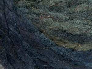 Fiber Content 60% Wool, 40% Acrylic, White, Navy, Brand Ice Yarns, fnt2-65345