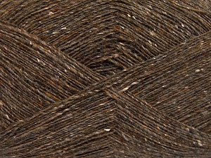 Tweed  Fiber Content 30% Acrylic, 30% Wool, 30% Polyamide, 10% Silk, Light Brown, Brand Ice Yarns, fnt2-65348