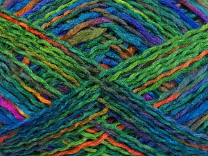 Fiber Content 100% Acrylic, Turquoise, Purple, Brand Ice Yarns, Green Shades, fnt2-65349