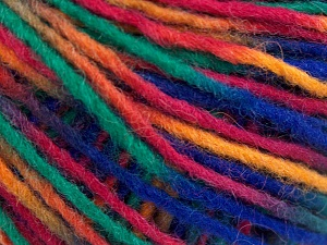 Fiber Content 50% Acrylic, 50% Wool, Red, Purple, Orange, Brand Ice Yarns, Green, fnt2-65361
