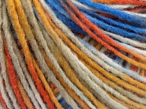 Fiber Content 50% Acrylic, 50% Wool, Brand Ice Yarns, Gold Shades, Blue, Beige, fnt2-65368