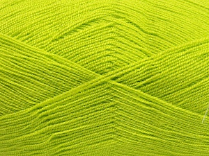 Very thin yarn. It is spinned as two threads. So you will knit as two threads. Yardage information is for only one strand. Fiber Content 100% Acrylic, Light Green, Brand Ice Yarns, fnt2-65383