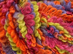 Fiber Content 50% Acrylic, 40% Wool, 10% Polyamide, Purple, Orange, Light Green, Brand Ice Yarns, Burgundy, fnt2-65391