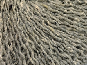 Fiber Content 30% Wool, 30% Acrylic, 25% Polyester, 15% Silk, Light Grey, Brand Ice Yarns, fnt2-65408