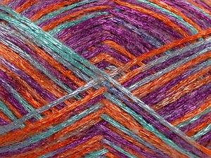 İçerik 50% Polyamid, 37% Akrilik, 13% Tiftik, Orange, Lilac, Light Turquoise, Brand Ice Yarns, fnt2-65453