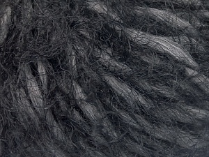 Fiber Content 50% Polyamide, 30% Wool, 20% Acrylic, Brand Ice Yarns, Dark Grey, Black, fnt2-65454