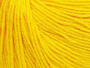 Fiber Content 40% Acrylic, 40% Merino Wool, 20% Polyamide, Yellow, Brand Ice Yarns, Yarn Thickness 2 Fine  Sport, Baby, fnt2-65570