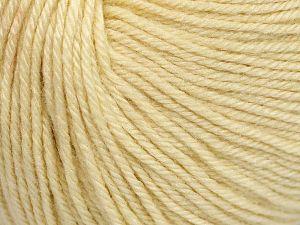 Fiber Content 40% Merino Wool, 40% Acrylic, 20% Polyamide, Brand Ice Yarns, Cream, Yarn Thickness 2 Fine  Sport, Baby, fnt2-65572