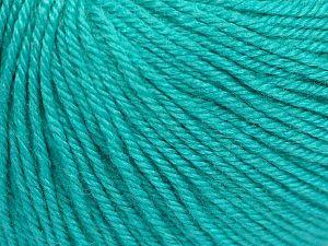 Fiber Content 40% Merino Wool, 40% Acrylic, 20% Polyamide, Light Turquoise, Brand Ice Yarns, Yarn Thickness 2 Fine  Sport, Baby, fnt2-65578