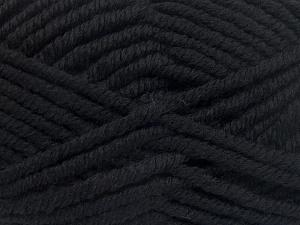 Fiber Content 50% Wool, 50% Acrylic, Brand Ice Yarns, Black, fnt2-65605