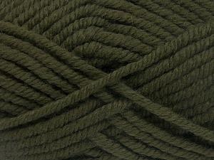 Fiber Content 50% Wool, 50% Acrylic, Brand Ice Yarns, Dark Khaki, fnt2-65610