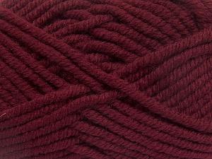 Fiber Content 50% Wool, 50% Acrylic, Brand Ice Yarns, Burgundy, fnt2-65616