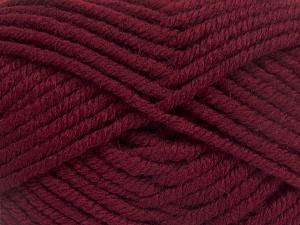 Fiber Content 50% Wool, 50% Acrylic, Brand Ice Yarns, Burgundy, fnt2-65618