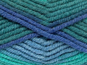 Fiber Content 50% Wool, 50% Acrylic, Brand Ice Yarns, Green Shades, Blue Shades, fnt2-65640