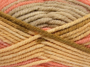Περιεχόμενο ίνας 50% Μαλλί, 50% Ακρυλικό, Light Yellow, Light Pink, Light Brown, Brand Ice Yarns, Beige, fnt2-65644