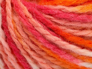 Fiber Content 50% Acrylic, 50% Wool, Pink Shades, Orange Shades, Brand Ice Yarns, Yarn Thickness 4 Medium  Worsted, Afghan, Aran, fnt2-65656