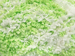 Fiber Content 100% Micro Polyester, White, Light Green, Brand Ice Yarns, Yarn Thickness 5 Bulky  Chunky, Craft, Rug, fnt2-65677