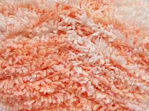 Vezelgehalte 100% Micro polyester, White, Light Salmon, Brand Ice Yarns, Yarn Thickness 5 Bulky  Chunky, Craft, Rug, fnt2-65682
