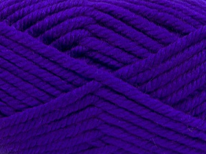 Superwash Wool Chunky Purple