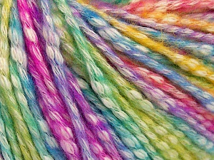 Fiber Content 77% Cotton, 23% Acrylic, Turquoise, Lilac, Brand Ice Yarns, Green, Fuchsia, Yarn Thickness 4 Medium  Worsted, Afghan, Aran, fnt2-65707