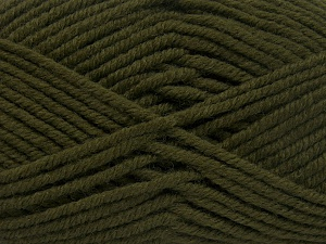 Fiber Content 70% Acrylic, 30% Wool, Brand Ice Yarns, Dark Khaki, Yarn Thickness 5 Bulky  Chunky, Craft, Rug, fnt2-65716
