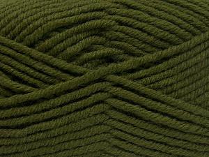 Fiber Content 70% Acrylic, 30% Wool, Khaki, Brand Ice Yarns, Yarn Thickness 5 Bulky  Chunky, Craft, Rug, fnt2-65717