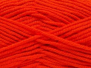 Fiber Content 70% Acrylic, 30% Wool, Orange, Brand Ice Yarns, fnt2-65722
