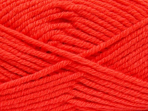 Fiber Content 70% Acrylic, 30% Wool, Neon Orange, Brand Ice Yarns, fnt2-65723